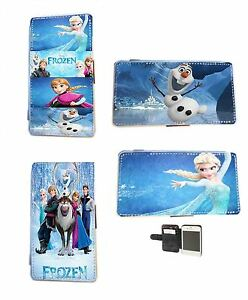 Disney Frozen Elsa Olaf faux leather phone case for Samsung iPhone HTC