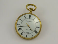 Rare Vintage IWC 18K GOLD QUARTZ POCKET WATCH Cal 2405 with DATE