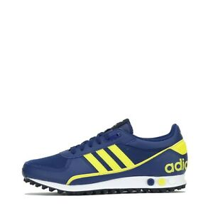 adidas Originals Men's LA Trainer II 2 Trainers Shoes Blue Yellow
