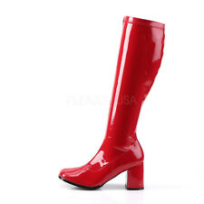 Red Super Girl 70s Wonder Woman Crossdresser Drag Queen Boots size 12 13 14 15