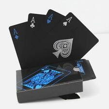 Creative Waterproof Black Plastic Poker Magic Table Board Game Playing Cards 6L