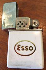 Vtg Lighter Esso Oval Logo Made In USA