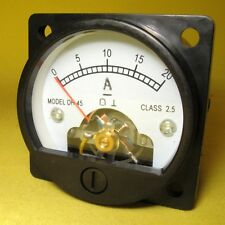 Current Panel Meter 20Amp Analog Round Display DC 20A Direct Ammeter SO45 12V AK