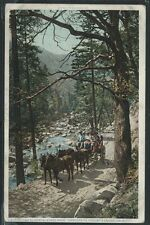 CA Enroute to Yosemite PHOSTINT c.1907 STAGE on EL PORTAL ROAD by Detroit 12165