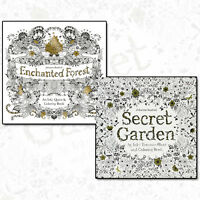 Johanna Basford Collection Secret Garden & Enchanted Forest 2 Books Set Pack NEW