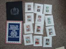 3 X 1977 QUEEN ELIZABETH II SILVER JUBILEE TOTAL OIL STAMP ALBUMS COMPLETE