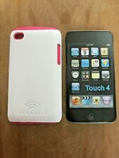TERRAPIN BACK CASE COVER WITH RUBBER INNER SLEEVE FOR APPLE iPOD TOUCH 4th GEN.