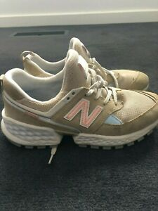New Balance Women's Sport Sneakers Shoes Size 8.5US (beige & pink)