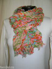 "TRANSAT BOUTIQUE CHECHE ECHARPE FOULARD ""HAPPY FEW"" MOUCHETE COLORE - PROMO!"