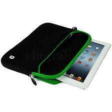 Black/Green Sleeve Case Bag Pouch for iPad Pro 9.7 / Air 2 / LG G Pad 2 10.1