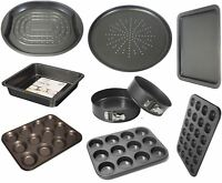 Non Stick Carbon Steel Oven Tray Cake Muffin Tin Loaf Roast Pizza Pan Kitchen