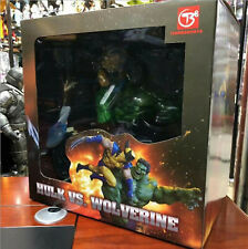 Marvel Hulk vs. Wolverine 14'' PVC Maquette Statue Figure Collectible Toys  PVC