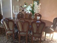 Oval Dining Furniture Sets with 9 Pieces