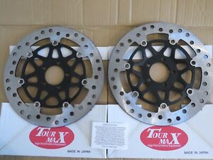 FRONT BRAKE DISCS TO FIT KAWASAKI ZX9R E1 E2 TOURMAX MADE IN JAPAN