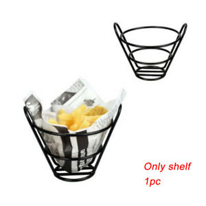 Holder French Fries Lightweight Snack Basket Chips Simple Stainless Steel Bar