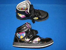 3.5 Girls Pastry Black Tennis Shoes Sneakers Hi Top Pink White Blue Yellow Lace