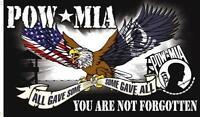 POW MIA FORGOTTON 3X5 FLAG military some gave all emblem #583 POWMIA banner new