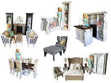 MiniMolly Dollhouse Furniture BARBIE SIZE BUNDLE Kitchen Dining Lounge Bedrooms