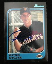 RUSS ORTIZ 1997 BOWMAN TOPPS Autograph Signed AUTO Baseball Card 373 GIANTS