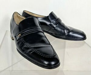 Loake Black Leather Loafers Shoes Men's UK Size 5 Made in England