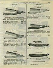 1932 PAPER AD Genco Old Dutch Fluid Steel Wade & Butcher Straight Razor