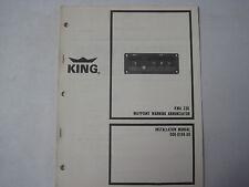 King KWA 336 Waypoint Warning Annunciator Original Installation Manual