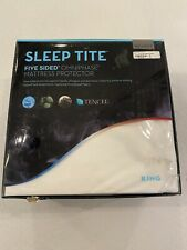 Malouf Sleep Tite Five 5ided Omniphase Mattress protector King New