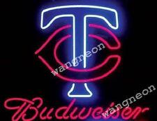 Minnesota Twins Mlb Budweiser Bud Neon Sign Beer Bar Light Fast Free Shipping