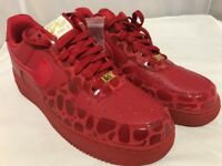 Nike Air Force 1 '07 Valentines Day Red/Gold DS NIB WmSz.12 Men10.5 Red October