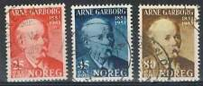 Noorwegen gestempeld 1951 used 369-371 - Arne Garborg