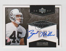 ZACH MILLER Seahawks 2007 Upper Deck INKCREDIBLE Autograph #INK-ZM SP RC AUTO !!