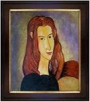 Framed Hand Painted Oil Painting Repro Modigliani Portrait of Jeanne 20x24in