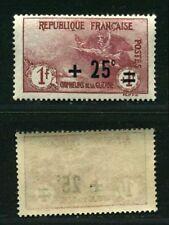 "FRANCE N° 168 "" ORPHELINS  +25c S .1F+1F ""  NEUF xx TTB"