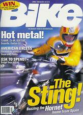 Bike April 1998 GSX750 Ducati M600 Monster Harley Sportrter 883 XJ600N Diversion