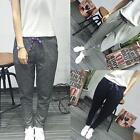 Womens Skinny Harem Pants Casual Jogger Dance Hip Hop Slacks Trousers Sweatpants