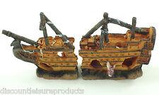 ACQUARIO SOMMERSA GALEONE NAUFRAGIO decorazione ornamentale 23cm RELITTO #2274c