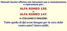 manuale tecnico officina alfa romeo 156 e 147 italiano e english
