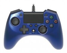 Hori Pad 4 FPS Plus Wired Controller Gamepad for Ps4 Ps3 Blue