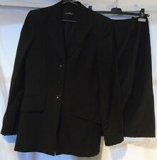 ESCADA CLASSIC ELEGANT BLACK 2-PIECE SKIRT SUIT UK 8/10 EU 36 US 6