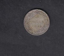 1876 H NEWFOUNDLAND SILVER 20 CENTS