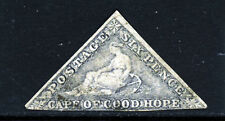 CAPE OF GOOD HOPE 1862 6d. Slate-Lilac on Blued Paper Wmk Anchor SG 7c VFU