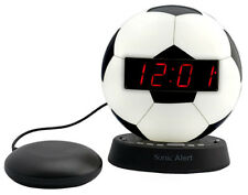 The Sonic Glow Soccer Ball Alarm Clock Sonic Bomb Bed Shaker SBW100SBSS