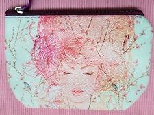 Waterproof Small Beauty Pouch Make-up Make up Cosmetic Bag Case Zip Pink Lady