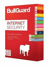 ANTI-VIRUS SUITE- NEW VERSION 3 COMPUTERS FOR 1 YEAR INTERNET SECURITY BULLGUARD