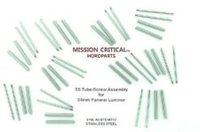 MISSION CRITICAL™ HOROPARTS for Panerai® 44mm -  20 Tubes & Screws 10 Sets  24mm
