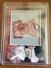 2010 TOPPS GIANTS MONTE IRVIN COMMEMORATIVE  PATCH  CARD #MCP61