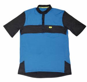 SUGOI Mens Cycling Jersey Short Sleeve Stretch 1/4 Zip Blue RPM Size Medium