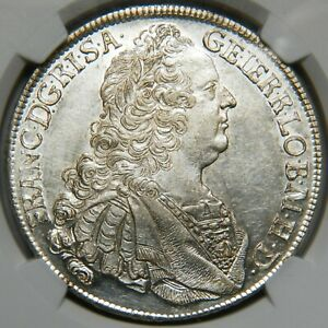 Hungary Francis of Lorraine thaler 1758 KB UNC [NGC MS 60]