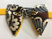 NEW Handmade Mens Bow-tie-Vintage-style-70-s-Bowtie-Pre-tied-Adjustable
