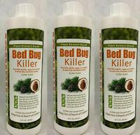 3 Pcs Ecoraider Bed Bug Killer Fast & Sure Kill Natural & Non-Toxic 16oz Bottles
